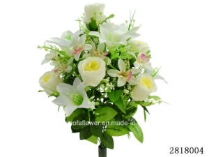Artificial/Plastic/Silk Flower Rose/Lily/Orchid Mixed Bush (2818004) pictures & photos