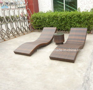 Foshan Rattanoutdoor Folding Beach Furniture Sun Lounger Chaise Lounger pictures & photos