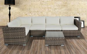 Simple PE Rattan Sofa Set Garden Furniture pictures & photos