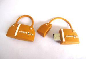 Colorful Bag Shape PVC USB Flash Memory (OM-P158) pictures & photos