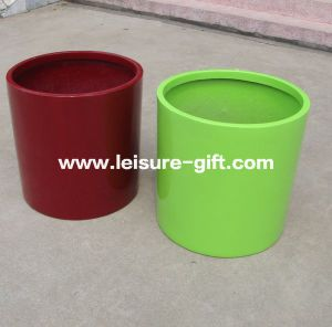 Fo-183 Cylinder Fiberglass Flower Pot for Home Garden pictures & photos