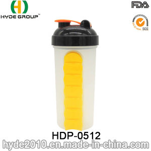 600ml Newly Plastic Protein Shaker Bottle (HDP-0512) pictures & photos
