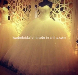 Sweetheart Bridal Ball Gown Puffy Vestidos Crystals Wedding Dress L1534 pictures & photos
