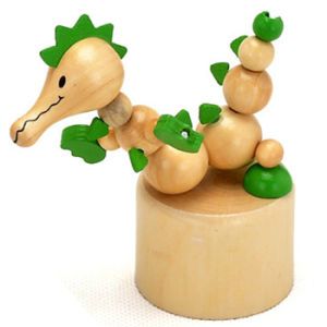 2015 Lovely Wooden Animal Spring Toy, Popular Wooden Animal Spring Toy, Educational Wooden Spring Toy W06D079 pictures & photos