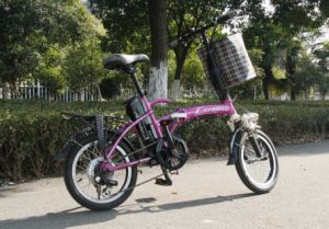 Popular Li-ion Battery Mini Electric Bicycle (CB-16F02) pictures & photos