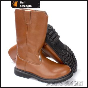 Industrial Geniune Leather Safety Boots with Rubber Sole (SN5394) pictures & photos