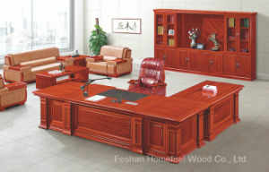 Antique Design Solid Wood Office Executive Director Desk Furniture (HF-YT10A) pictures & photos
