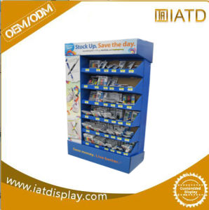 Corrugated Cardboard Floor Display, POS Cardboard Display for Biscuits pictures & photos