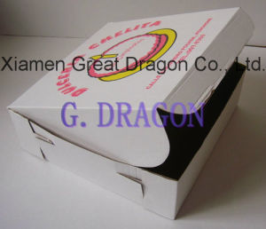 Locking Corners Pizza Box for Stability and Durability (PCB006) pictures & photos