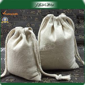Customized Logo Printing Cotton Drawstring Bag pictures & photos