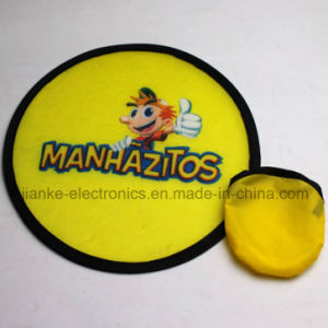 Promotional T190 Foldable Nylon Frisbee with Logo Printing (3488) pictures & photos
