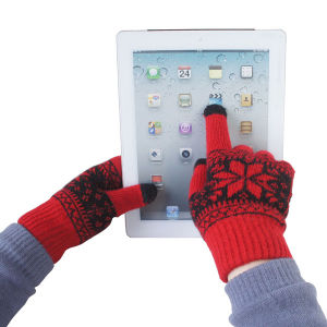 Men′s Fashion Jacquard Knitted Winter Warm Touch Screen Gloves (YKY5461) pictures & photos