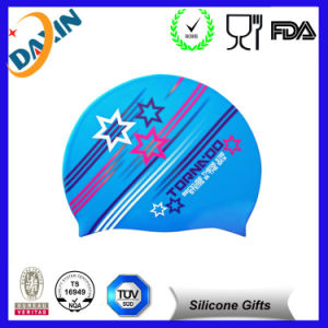 2015 Waterproof Promtion Silicone Swim Cap pictures & photos