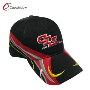 Black Red Yellow Racing Cotton Baseball Cap (CW-0473) pictures & photos