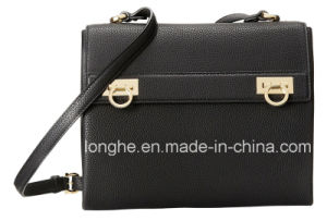 Designer Dual Turn Locks Unlined Crossbody Bag (LY0283) pictures & photos