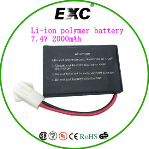 2016 Hot Sales Li-Polymer Battery 7.4V 2000mAh pictures & photos