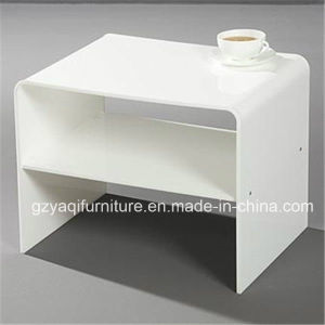 China White Small Acrylic Living Room Center Coffee End Table China Acrylic End Table Acrylic