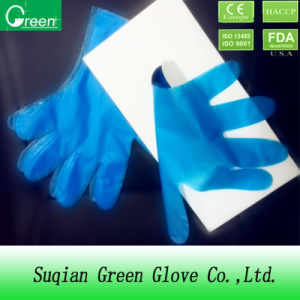 Disposable Colorful Polythene Protective Gloves pictures & photos