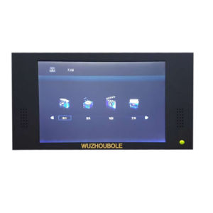 1050L Three Opening Glass Door Multimedia Showcase with LED Screen pictures & photos