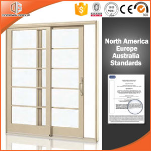 Solid Wood Lift Sliding Door with Integrated Automatic Shutters, Perfect America Villa Wood Aluminum Lift Sliding Door pictures & photos