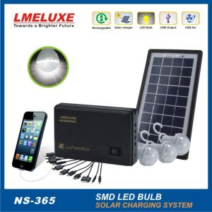 3W Rechargeable LED Solar System Light for Home and Mobile Phone Charging Function pictures & photos