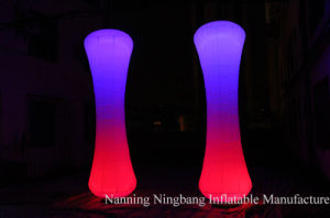 Customized Inflatable Pillar Cone with LED Light for Event Decoration