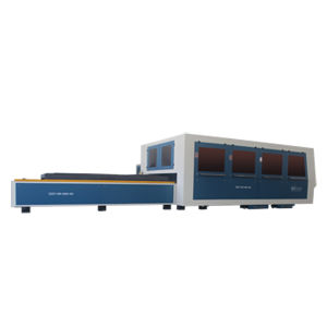 Fiber Laser Cutting Machine with Double Table