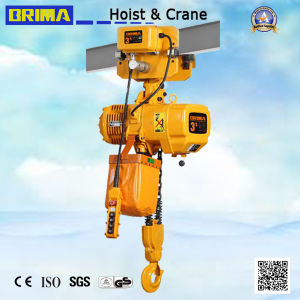 3t Brima Hot High Girde Electric Chain Hoist with Electric Trolley pictures & photos