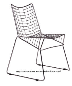 Modern Dining Restaurant Stackable Strings Metal Wire Chair pictures & photos
