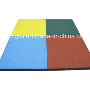 Surface Dyed Rubber Floor Tile pictures & photos
