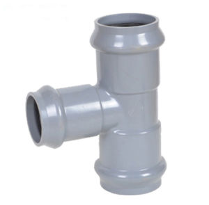 Water Supply DIN Standard PVC Pipe Fitting Grey pictures & photos