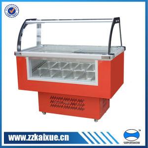 Front Glass Ice Cream Freezer