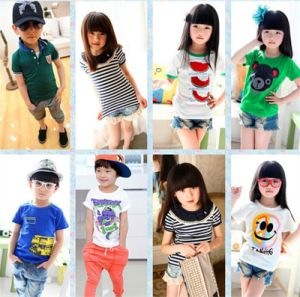 Kid′s Good Quality T-Shirt with Various Designs pictures & photos