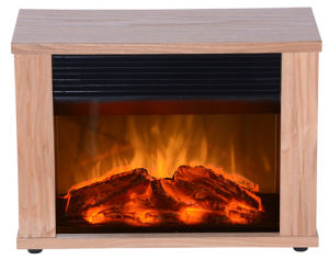 Wood Light-Heater-Electric Mini Fireplace