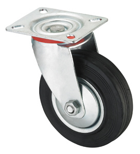Middle Duty Series Caster - Swivel W/O Brake - Black Industrial Rubber (roller bearing) pictures & photos