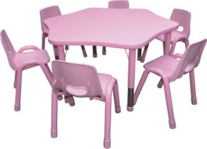 Kaiqi Children′s Table - Flower Shape - Many Colours Available (KQ8232F) pictures & photos