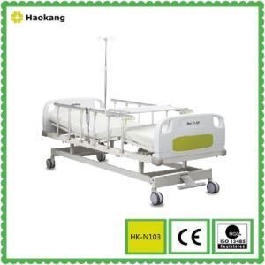 Electric Two-Function Hospital Bed with Central Brake (HK-N103) pictures & photos
