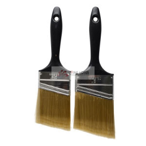 High Quality Plastic Black Handle with Incline Golden Pet Paint Brush pictures & photos