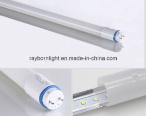 Frosted Cover Electronic Ballast Compatible T8 Nanomaterial Tube LED 18W pictures & photos