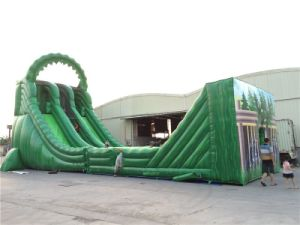 2016 New Arrival Giant Inflatable Zip Line Slide for Sale pictures & photos