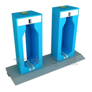 Public Bicycles-Fluorescent Blue Ordinary Steel Pipe Single Lock Double Column