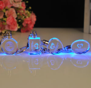 Exquisite 3D Laser Crystal Keychain Glass Keyring pictures & photos