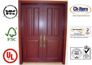 Double Leaf Solid Wooden Door/Exterior Door/Wood Door pictures & photos