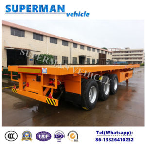 13m Heavy Flatbed Container Cargo Semi Trailer pictures & photos