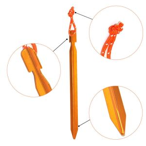 Carries Tent Stakes Aluminum Pegs 10 Pack with Pouch