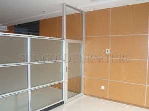 Modern Showroom Interior Design Office Half Glass Wall Partition (SZ-WS596) pictures & photos
