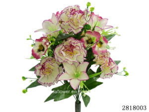 Artificial/Plastic/Silk Flower Carnation/Lily/Pansy Mixed Bush (2818003) pictures & photos