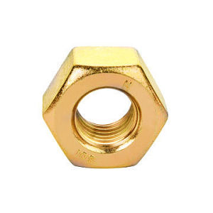 A563 High Strength Structural Heavy Nuts 2h Yellow Zinc pictures & photos