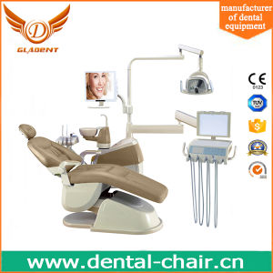 Hot Selling High Level Dental Chair with Down Hanging Plate pictures & photos