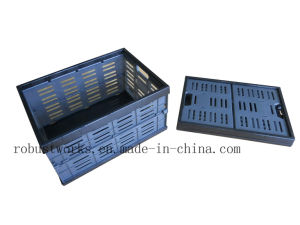 Large Size Folding Plastic Basket (FB004B-1) pictures & photos